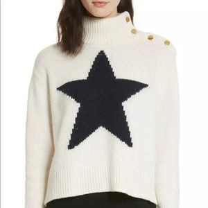 Kate Spade Star turtleneck wool cashmere sweater